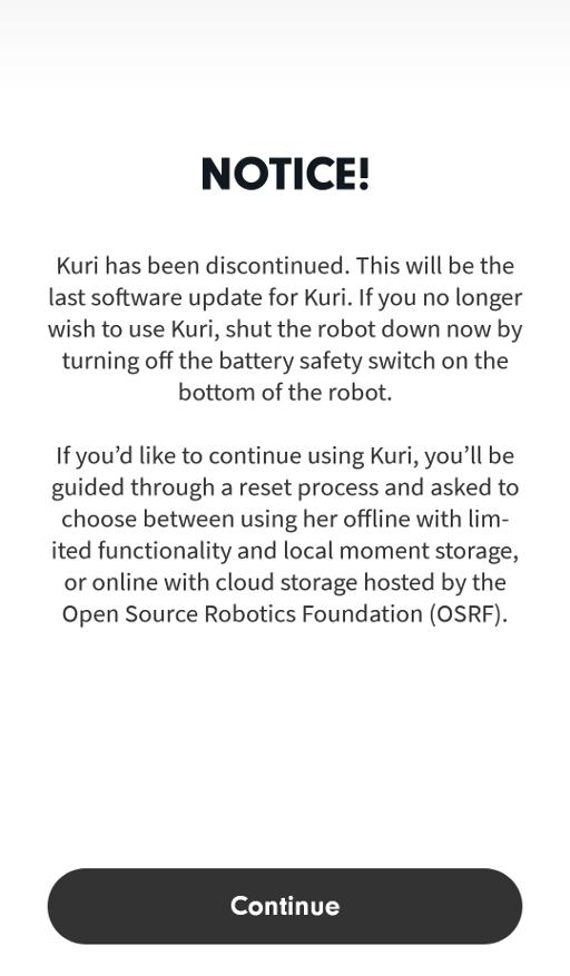 Connecting to Kuri